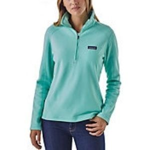 Patagonia Mint Green Quarter Zip Up Pullover